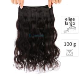 extensiones de cortina de pelo natural virgen onduladas