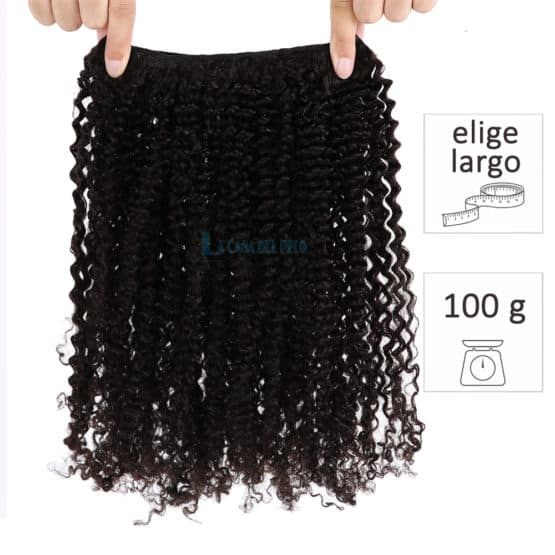 extensiones de cortina de pelo natural virgen rizadas