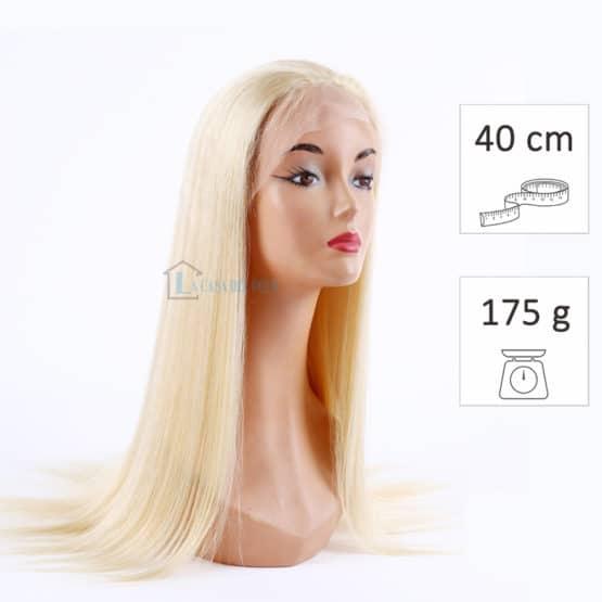 peluca de pelo virgen platino