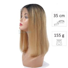 peluca bob pelo natural 35cm 155g californiana