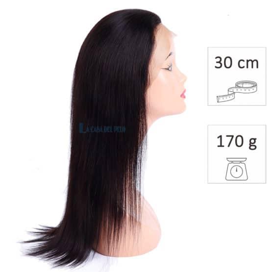 peluca pelo virgen 30cm 170g